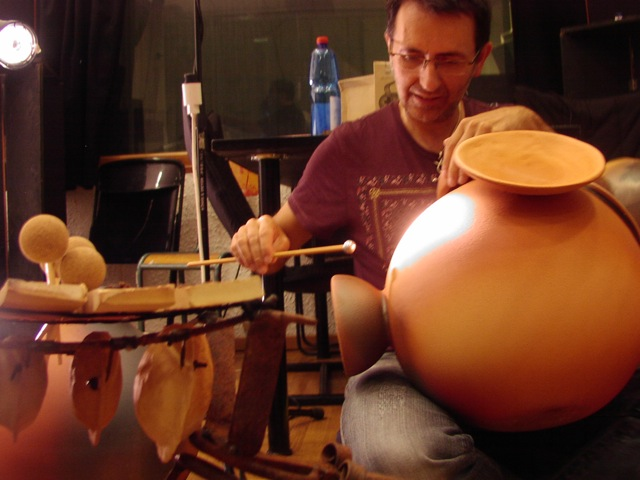 udu drum 39cm multi cloches