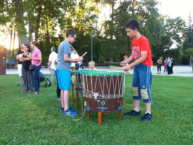 expo itinérante interactive percussion plein air
