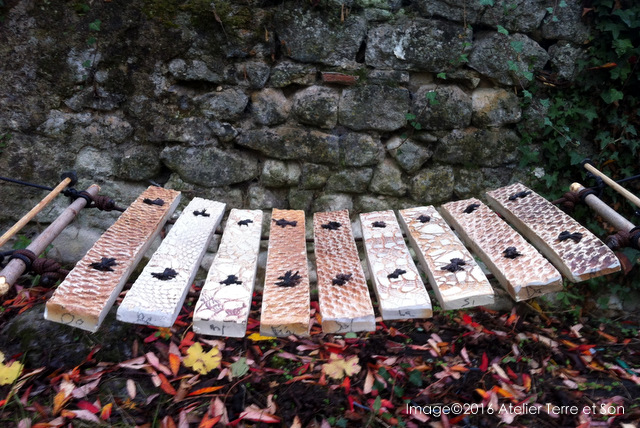 instrument musique de plein air percussion clavier en céramique fabrication artisan france